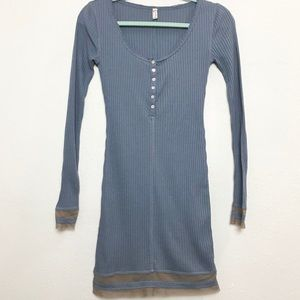 Intimately Free People Blue Tunic Dress Sz XS